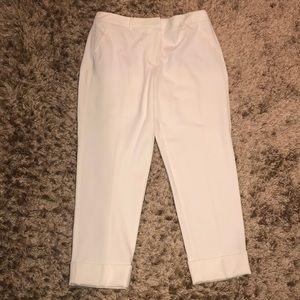 White House Black Market cream cotton pant